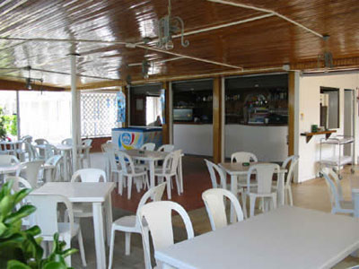 Beach, bar and restaurant